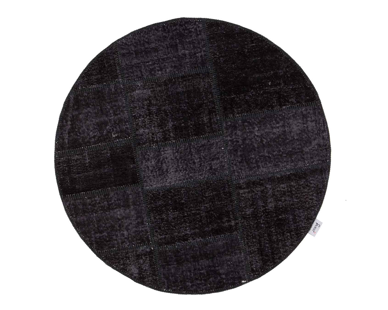 belle main tricotee tapis ronde