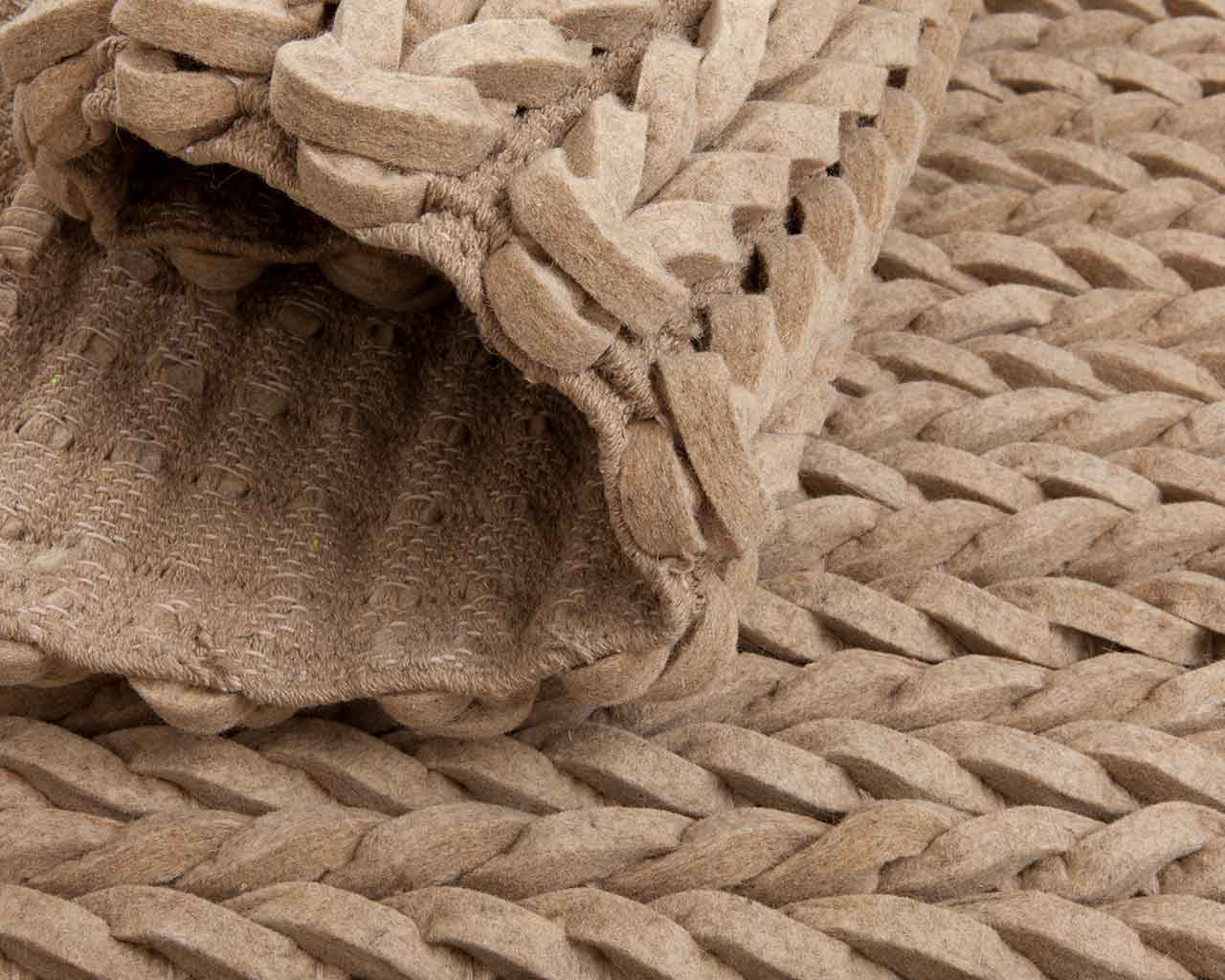 beige braided wool rug natural indian 1