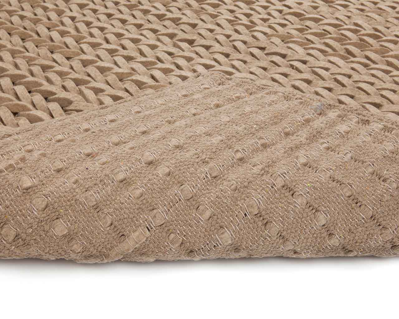 beige brown felted wool carpets 1