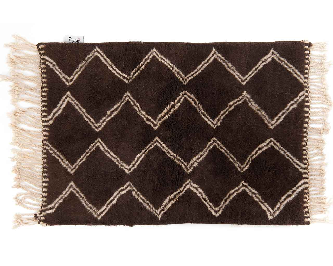 buy online beni ourain carpets in brown colors 1