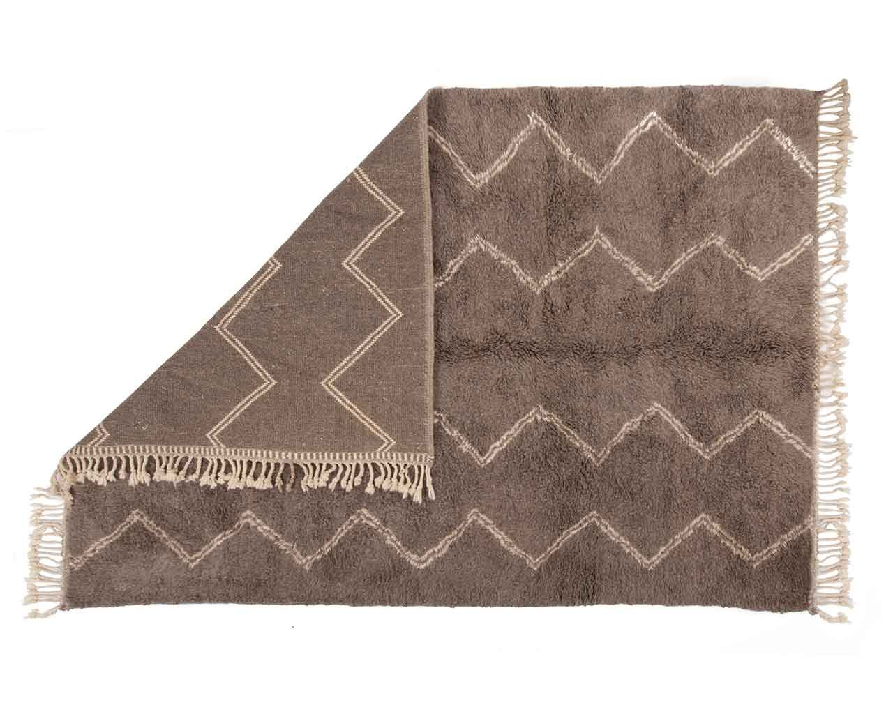 pure wool carpet high pile moroccan 1