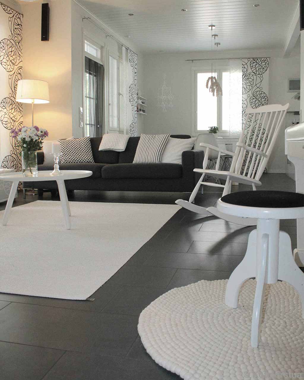 gray sofa and white easy chair from nepal rugs