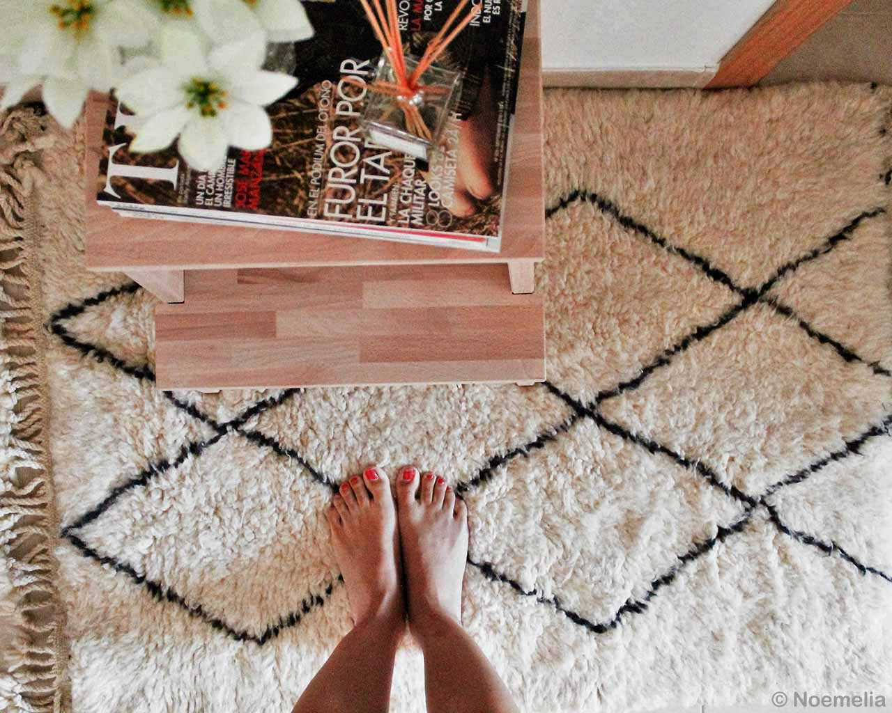 hand knotted girls feet with red nail polish moroccan kitchen rugs
