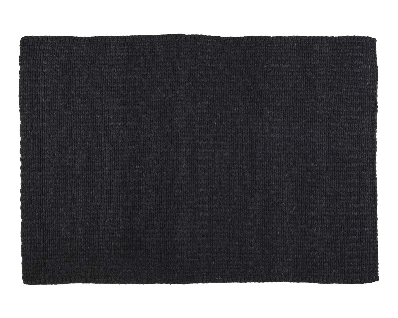tricot rectangle noir laine vrais tapis orientaux
