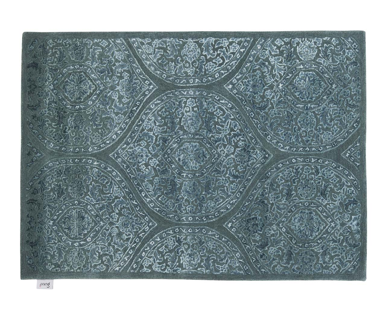 rectangle touffete vert clair jute zone tapis