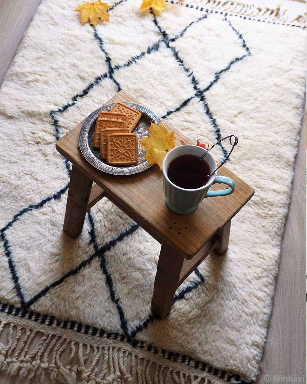 yellow leaves tea and biscuits danish design rugs