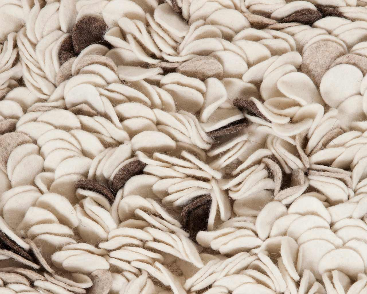 chocolate beige white carpets felted cut