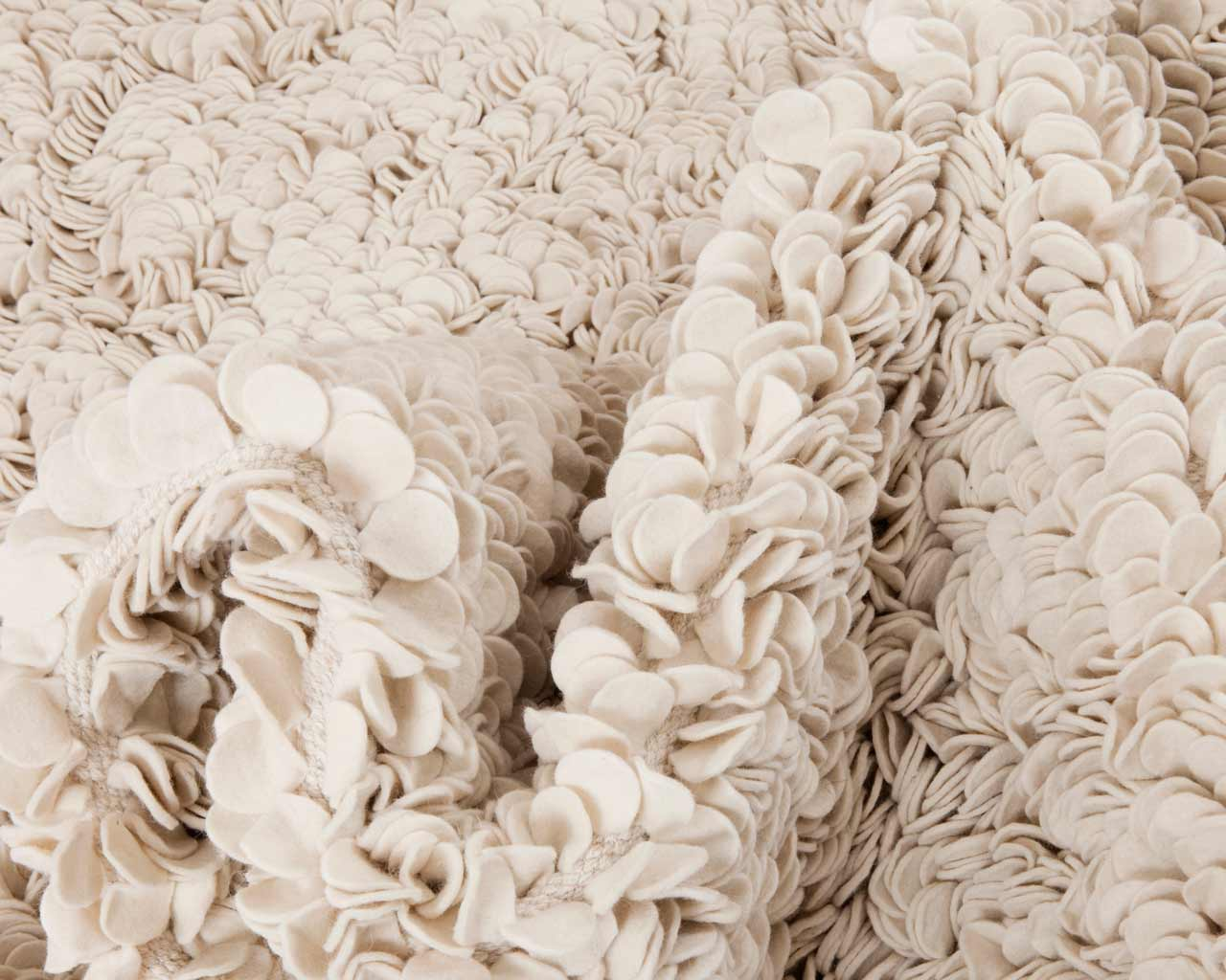 pure clean white felted rug custom color choice best present