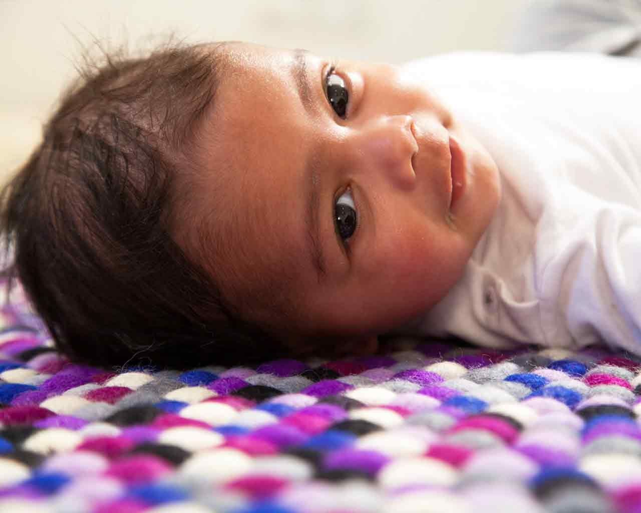 india nice baby royal purple rug