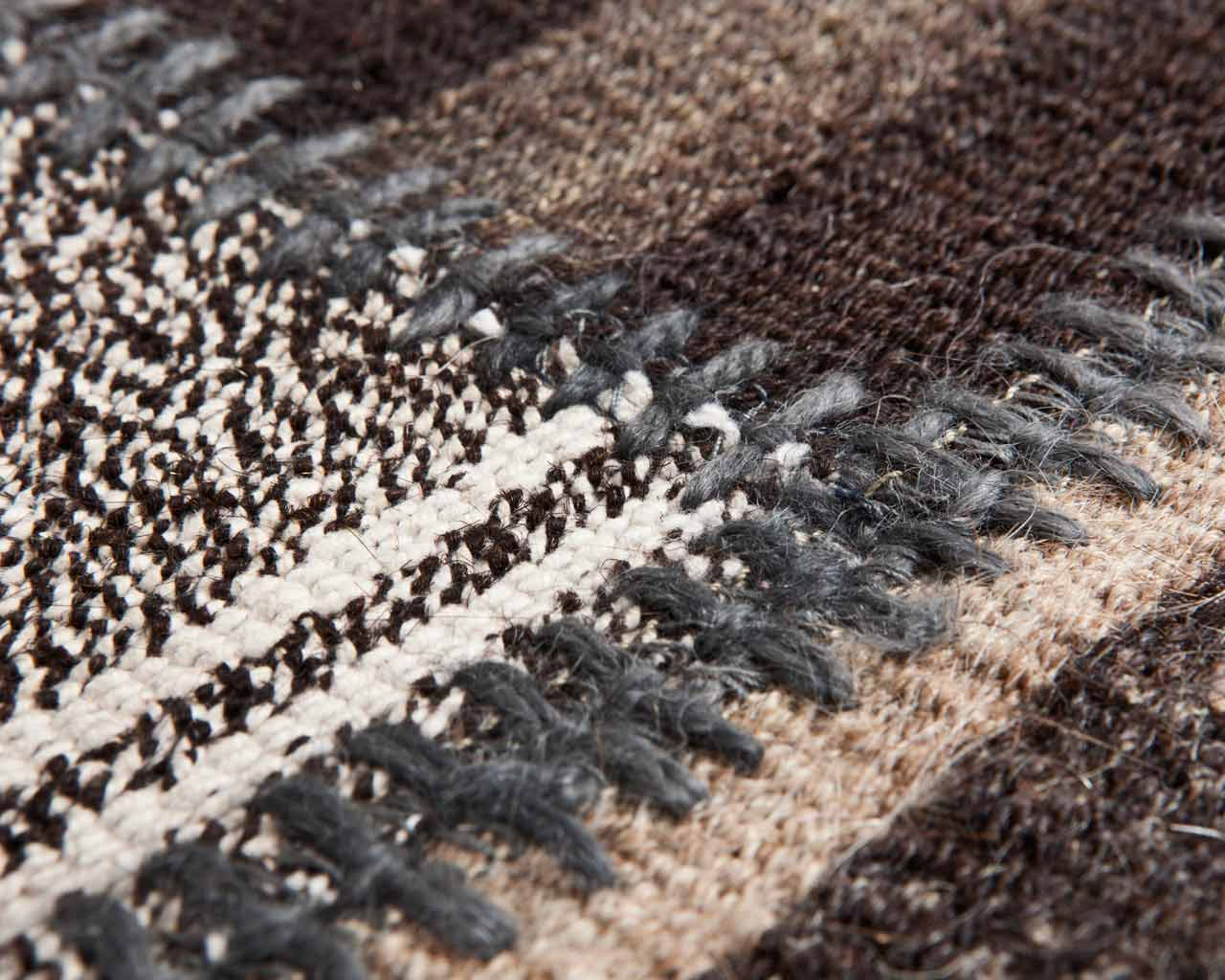 grey brown patchwork kilim