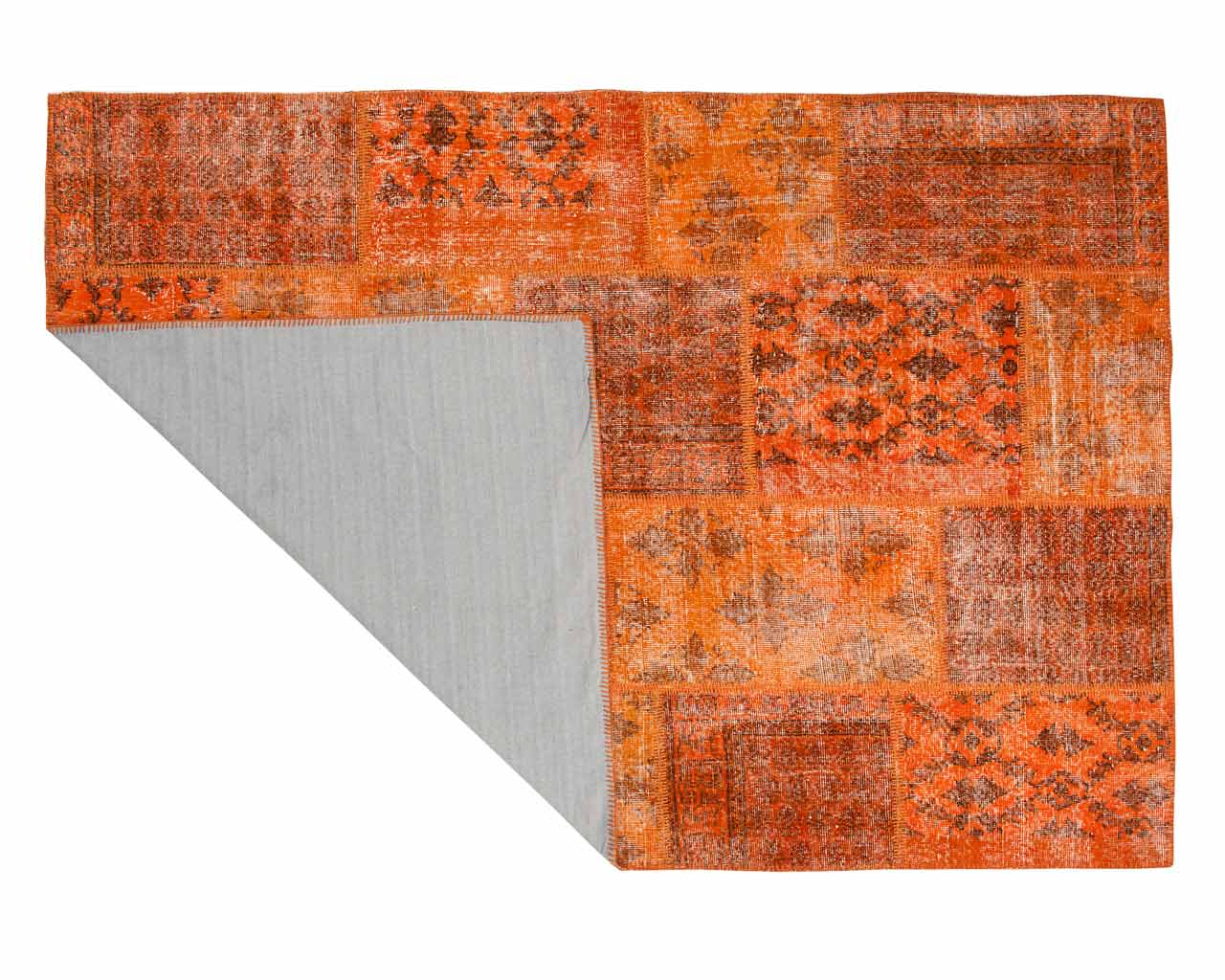patchwork carpets orange colour