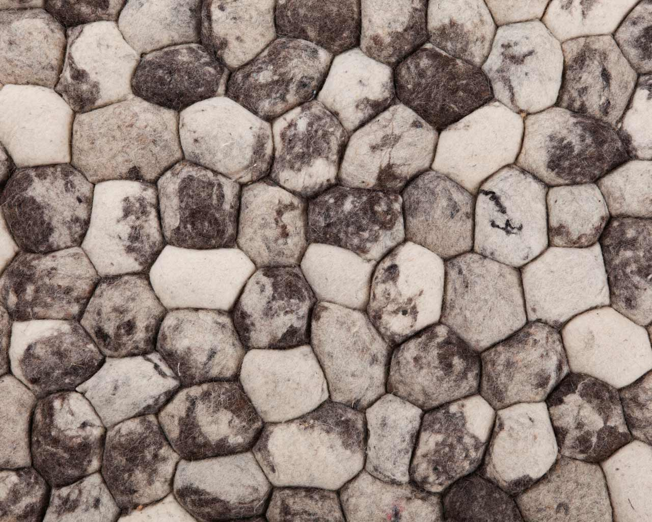 rocks carpet rectangular grey mix
