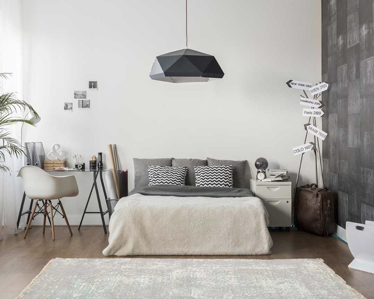 moderne main nouee tapis chambre