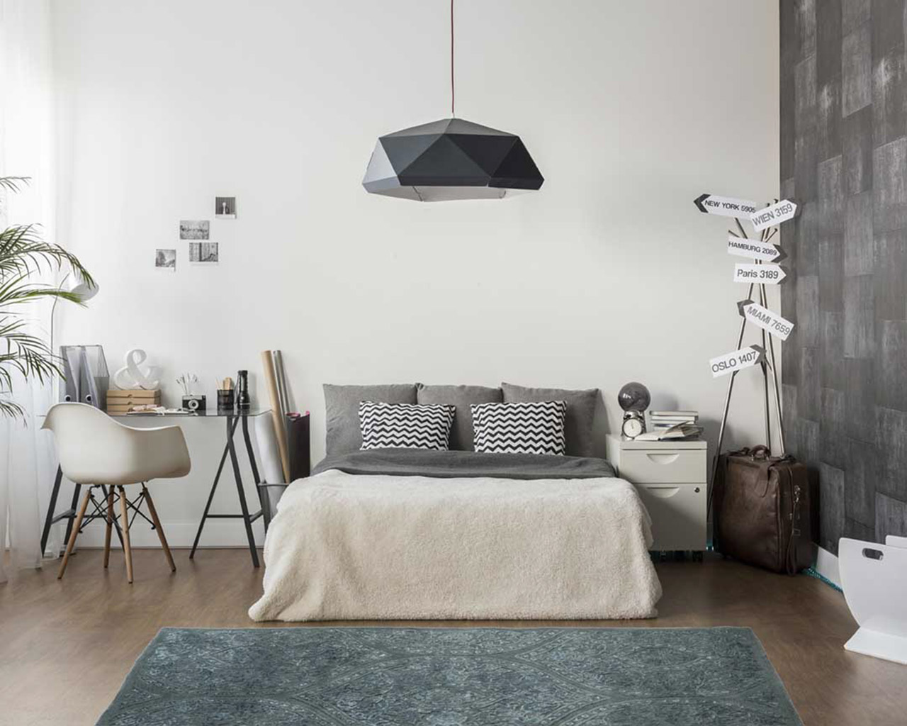 moderne main huppee tapis chambre conception