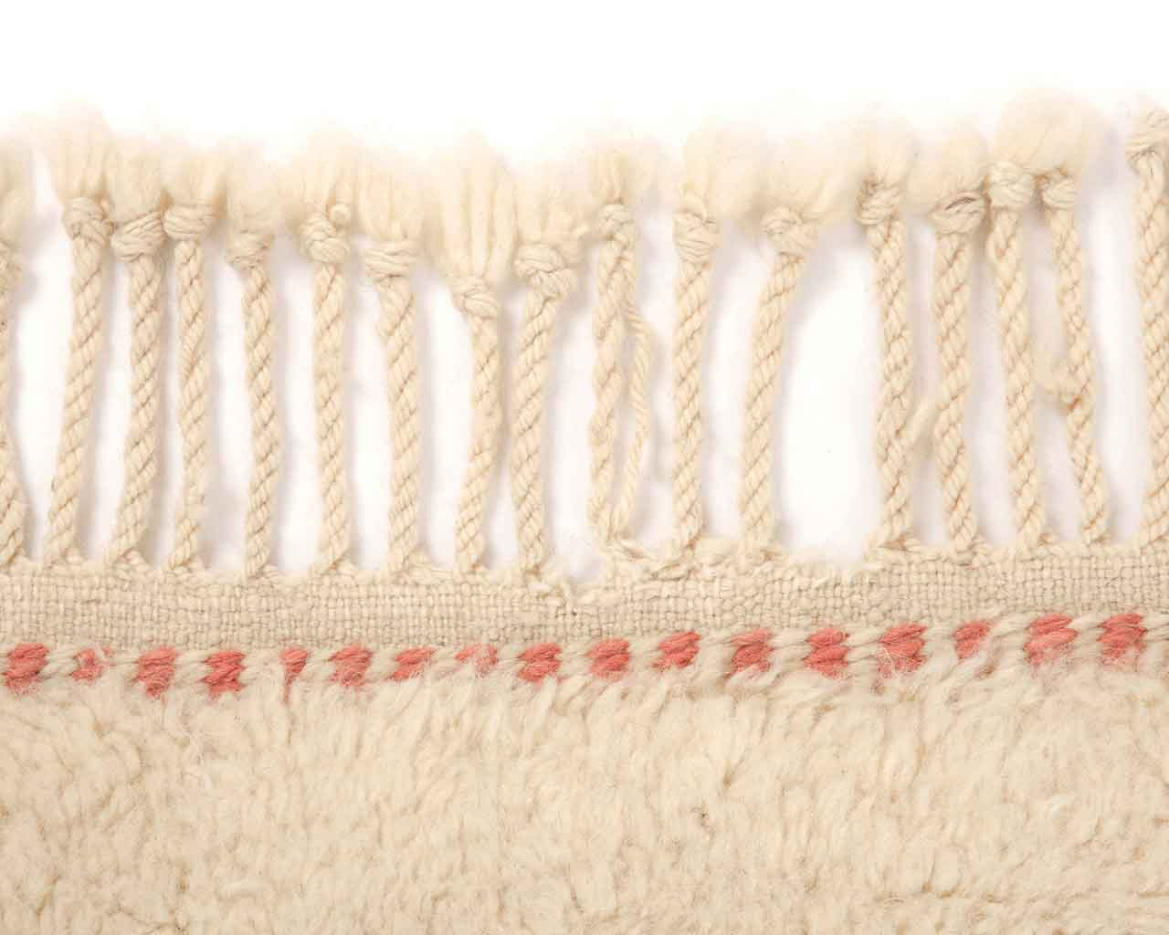 pink white fringes personalizable berber carpets 1