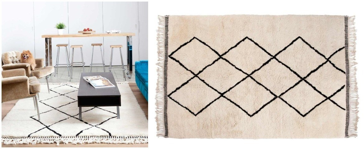 beautiful-living-room-with-beni-ourain-rug