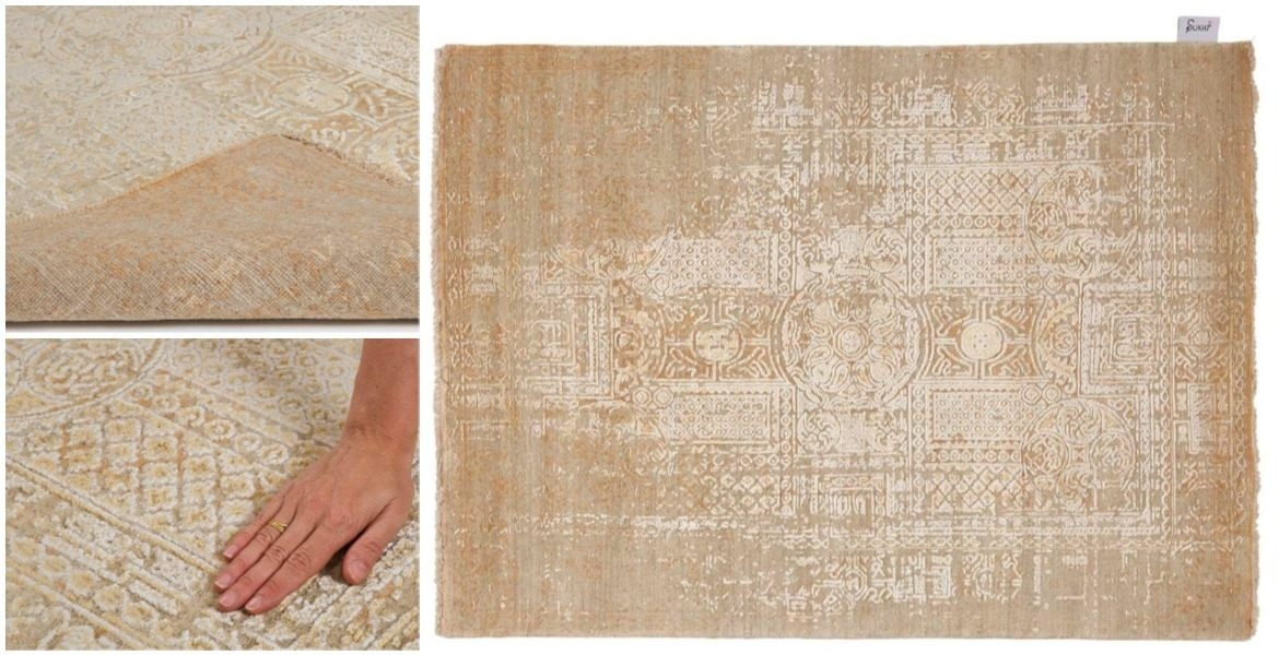 gold-asymmetric-oriental-hand-knotted-rug-with-close-up